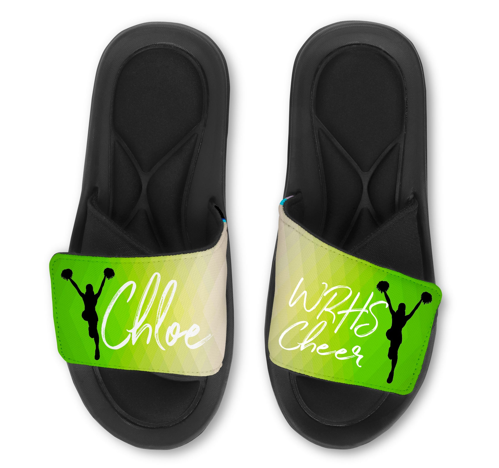 CHEER Abstract Custom Slides / Sandals - Choose your Background!
