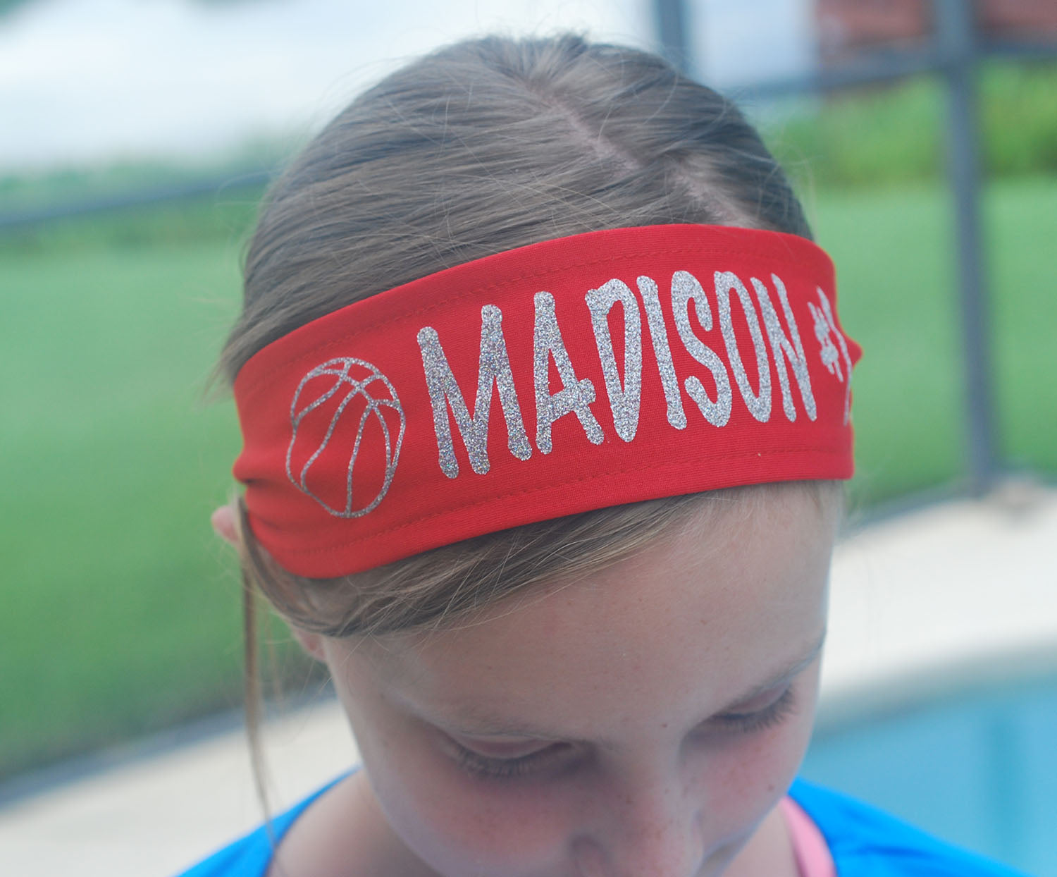 Custom Personalized FOOTBALL TIE Headband - Sparkle Letters!