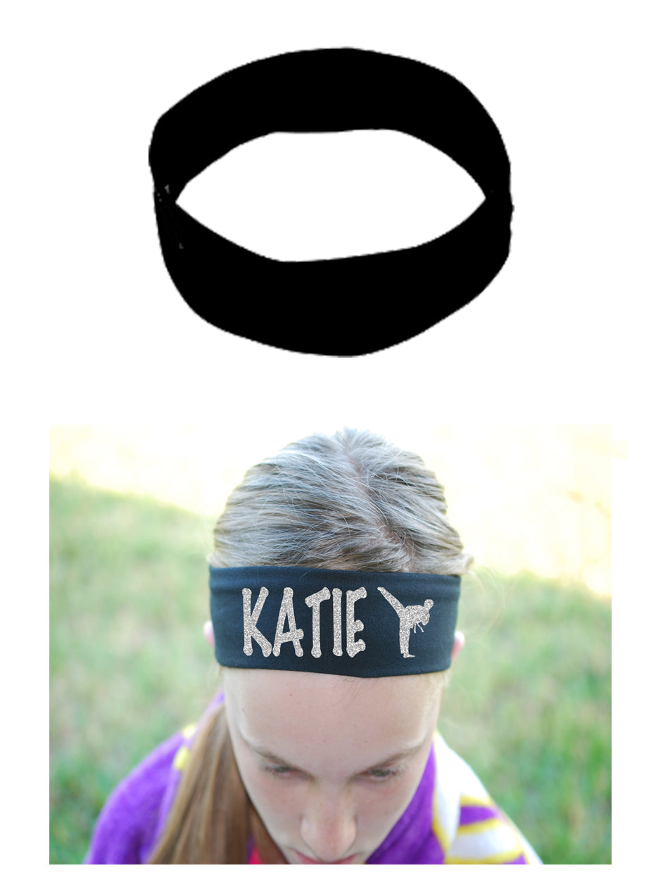 Custom Karate Headband (Cotton/Lycra) - Sparkle Letters!