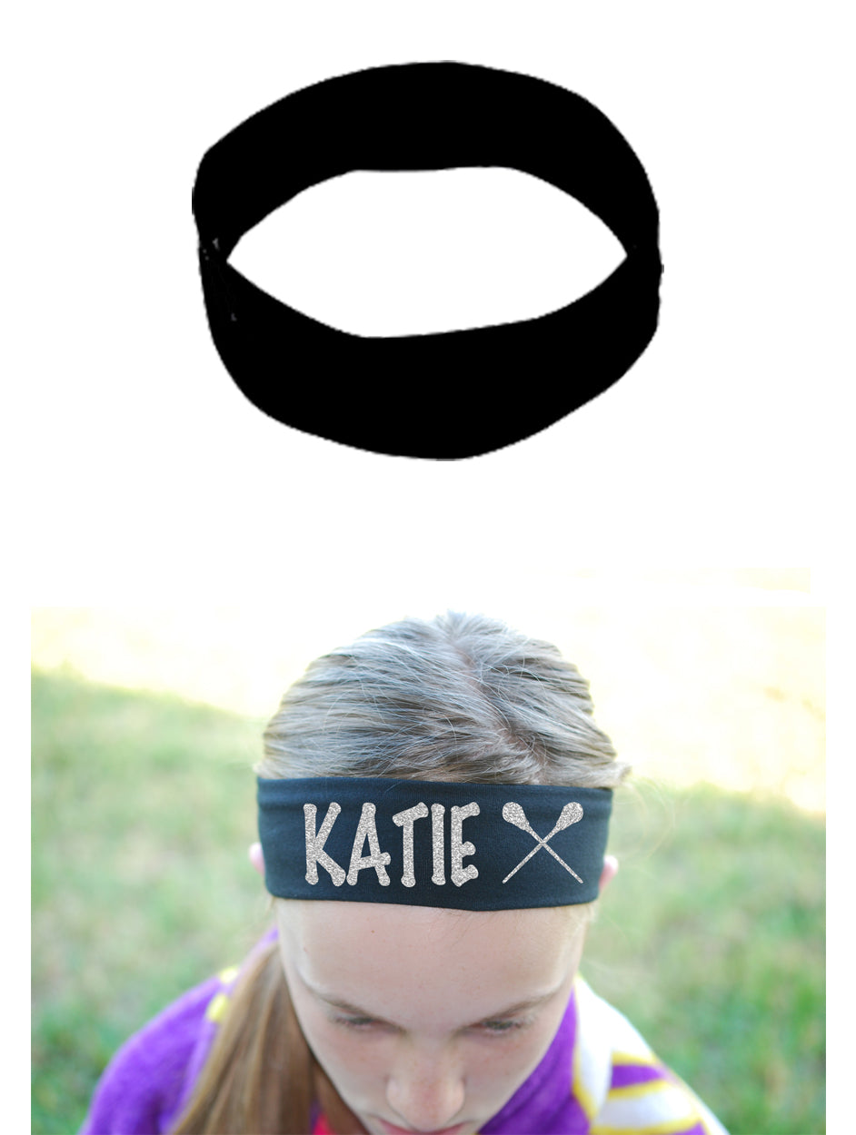Custom Lacrosse Headband (Cotton/Lycra) - Sparkle Letters!