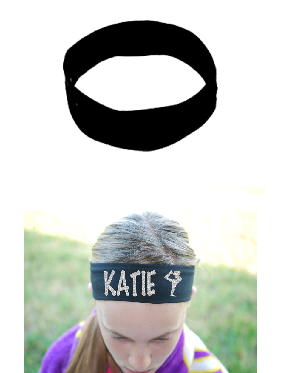 Custom Scorpion Headband (Cotton/Lycra) - Sparkle Letters!