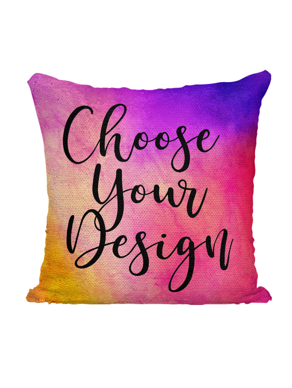CUSTOM SEQUIN PILLOW - CHOOSE YOUR DESIGN