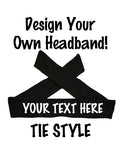 Custom TIE Headband - Sparkle Letters!