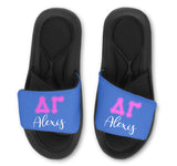 Alpha Delta Gamma Slides - Customize With Your Name