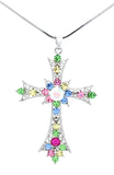 Deluxe Lace Cross Necklace - Large