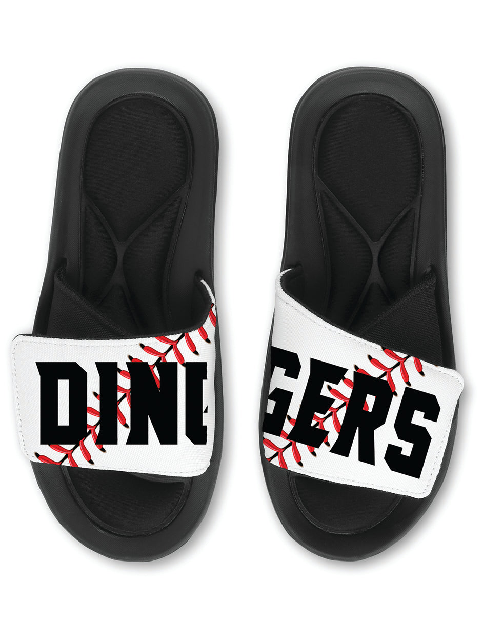 DINGERS Baseball Slides Sandals - TEAM Baseball Slides