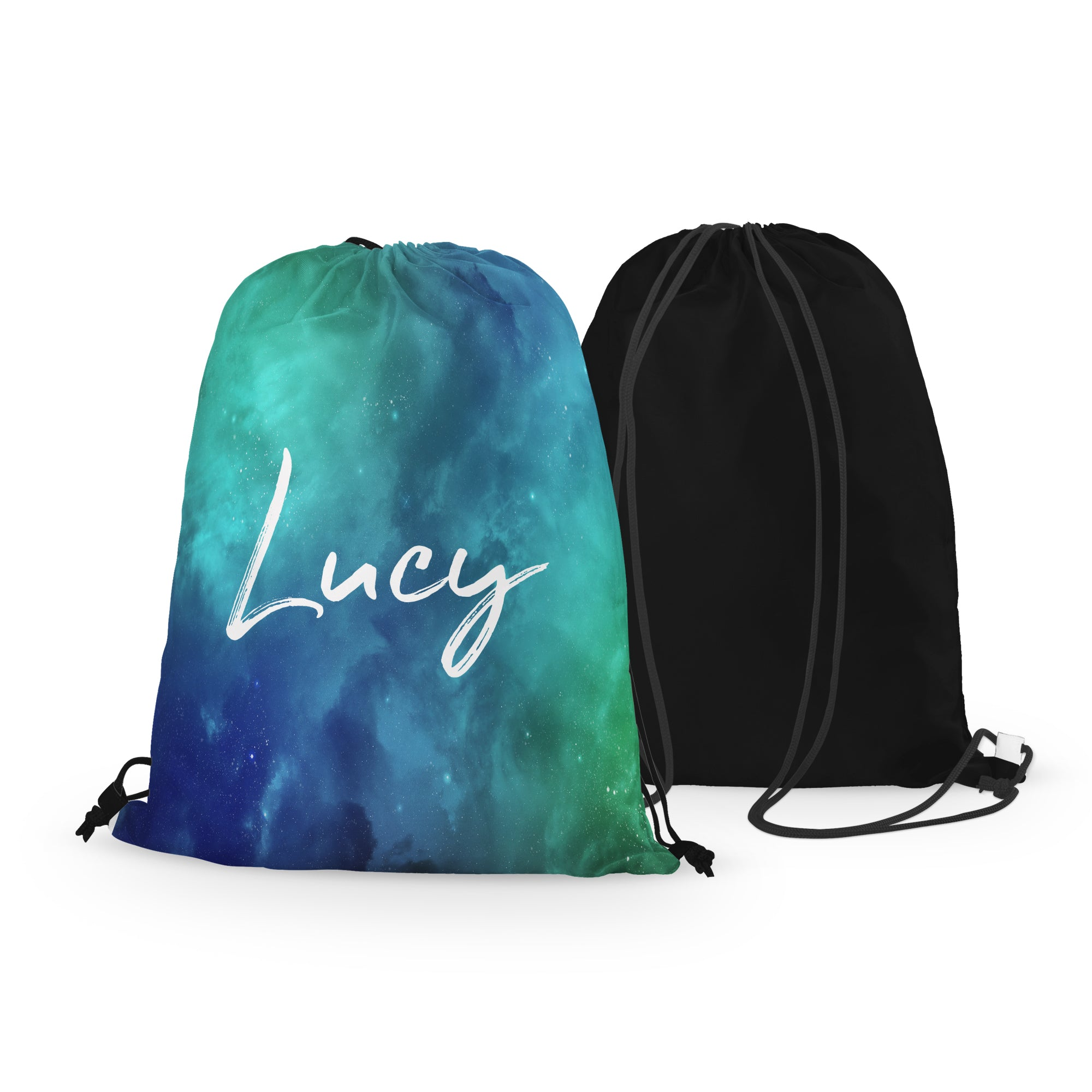 Personalized Space Drawstring Bag