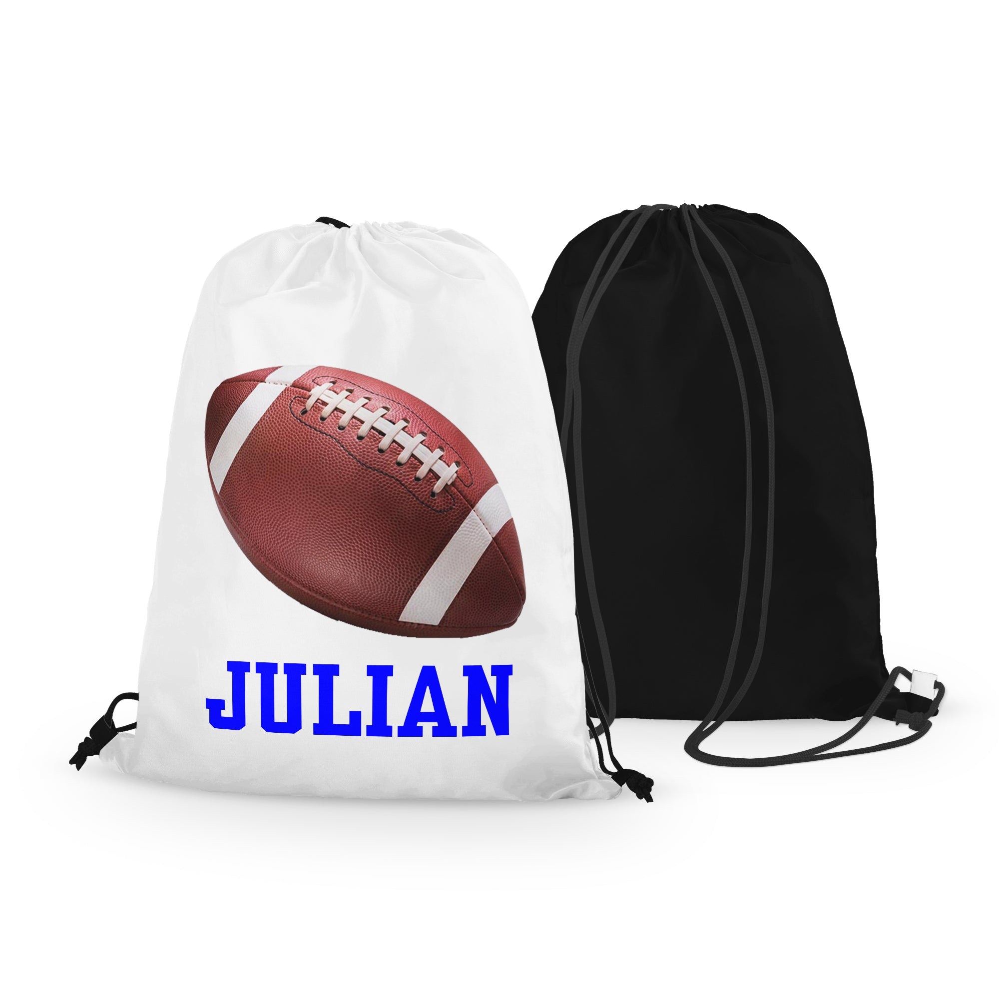 Personalized Football Drawstring Bag