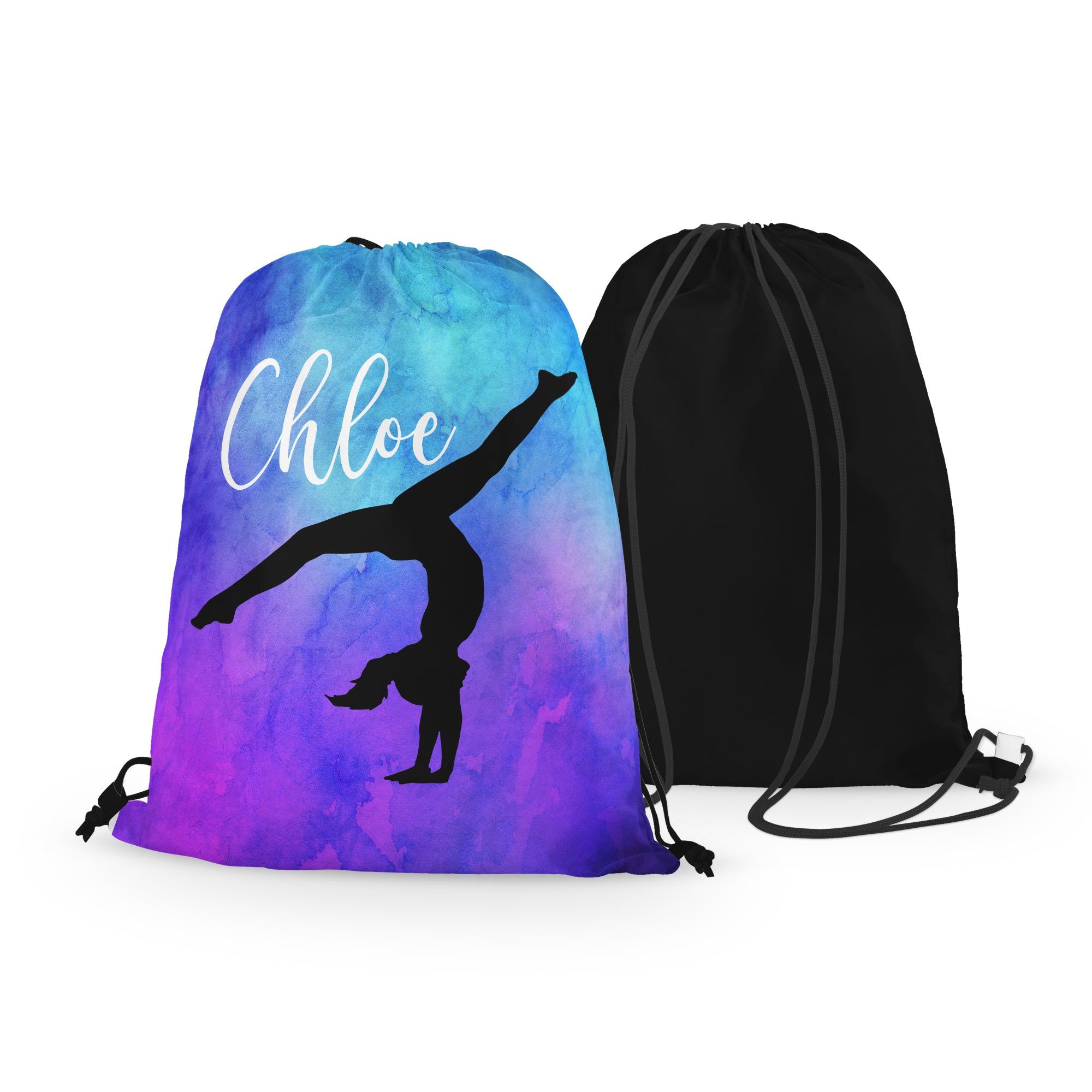 Personalized Gymnast Drawstring Bag