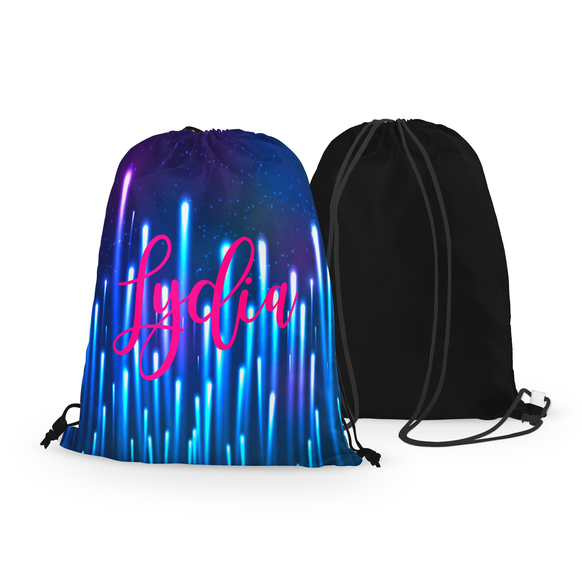 Personalized Northern Lights Drawstring Bag