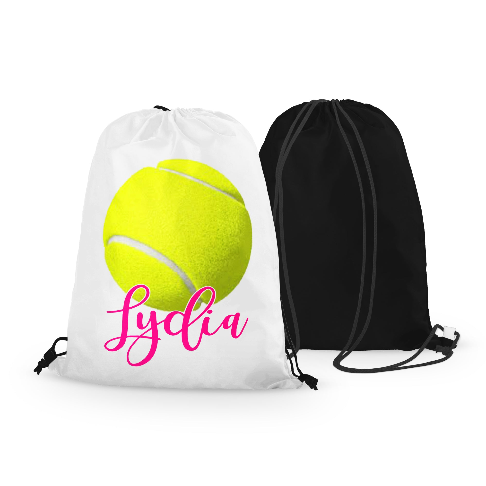 Personalized Tennis Drawstring Bag