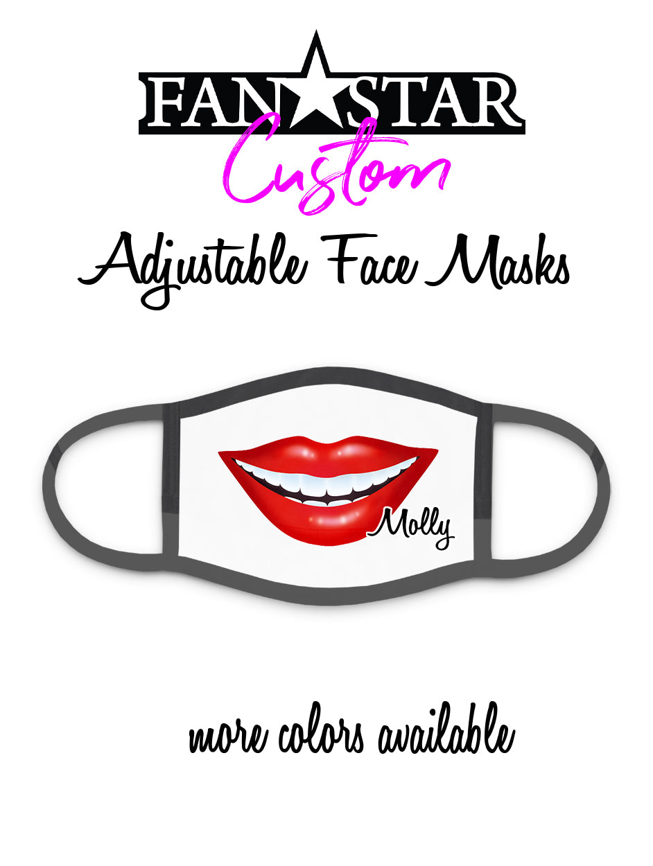 Custom Lips Face Mask - Mouth Face Mask - Add Your Personalization!