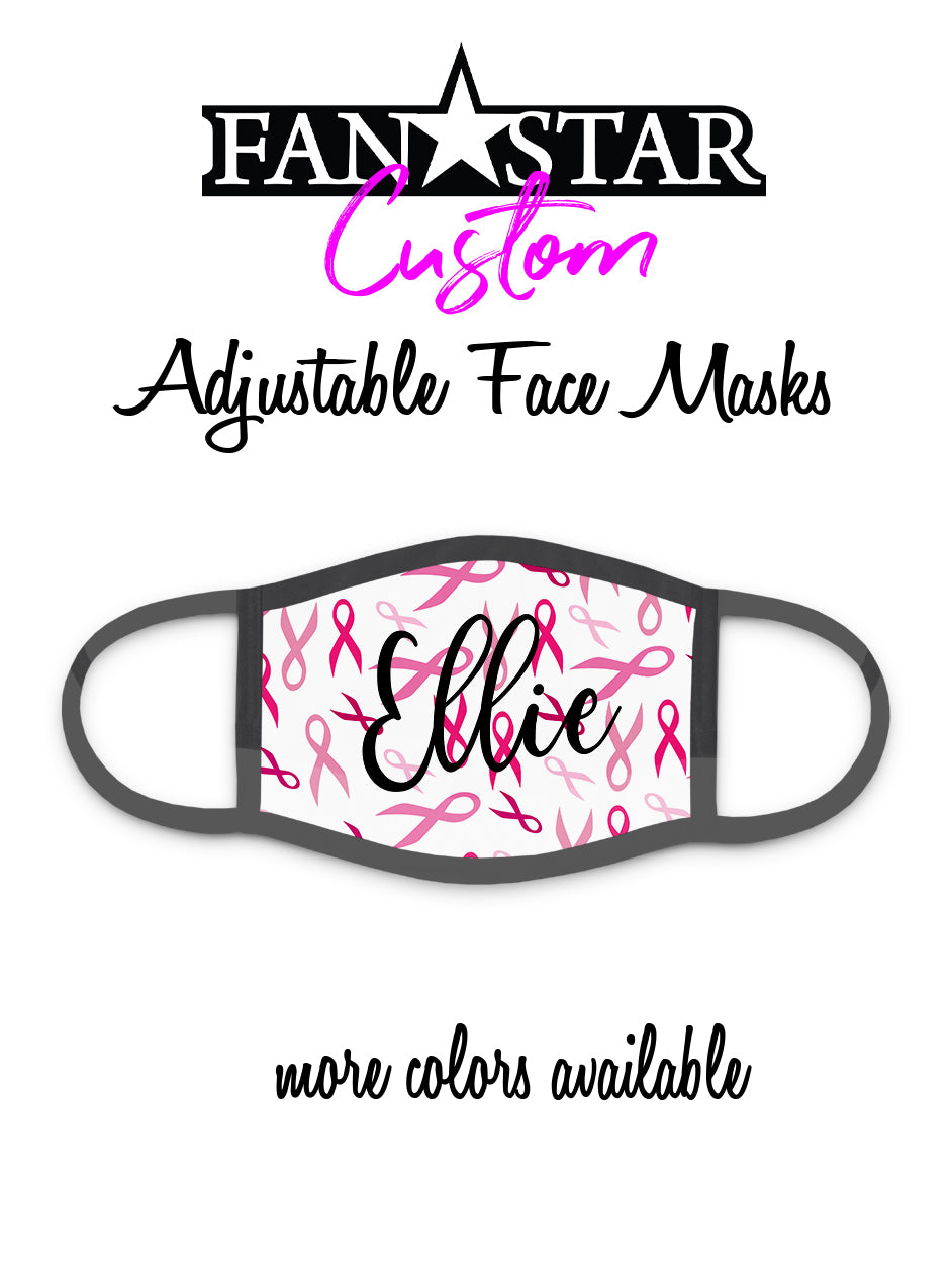 Custom Cancer Awareness Ribbon Face Mask - Add Your Personalization!