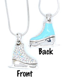 Deluxe Figure Skate Necklace - Enamel/Crystal