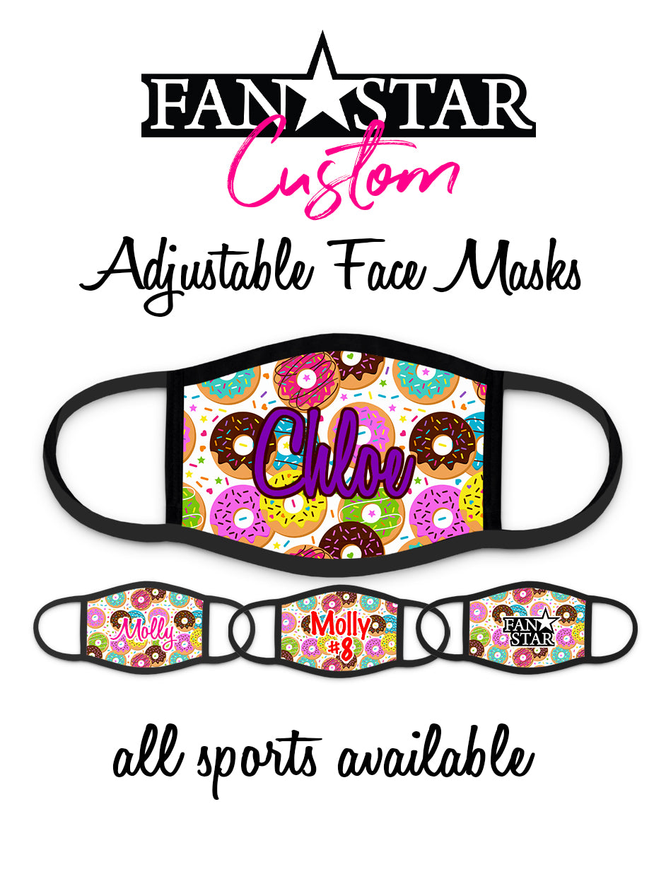 Custom Donuts Face Mask - Doughnuts Face Mask - Choose Your Colors