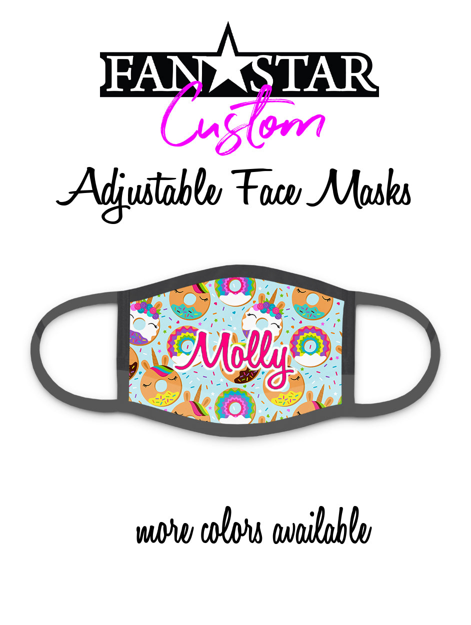 Custom Unicorn Donuts Face Mask - Doughnuts Face Mask - Choose Your Colors