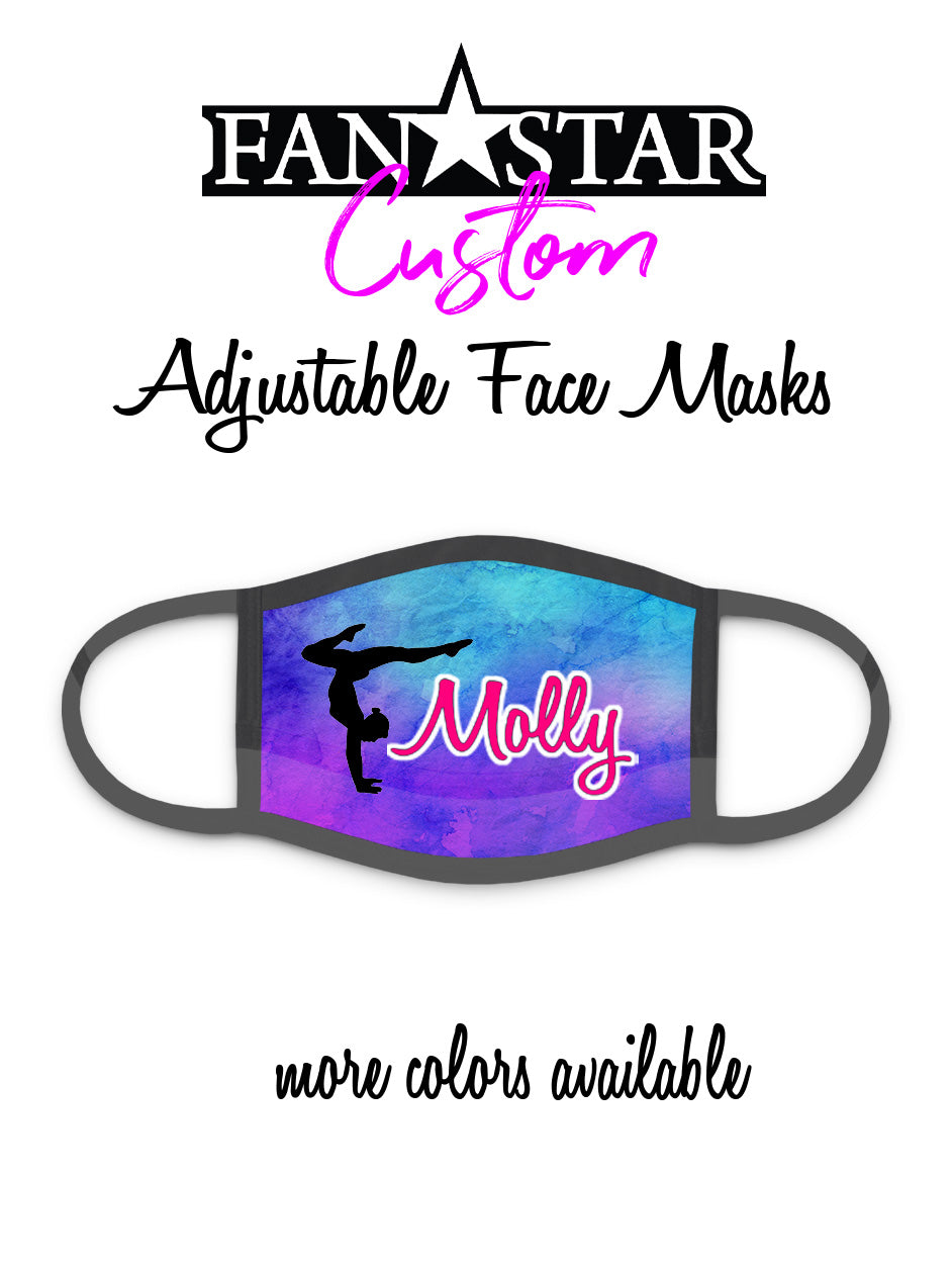 Custom Gymnast Mask - Gymnastics Mask - Choose Your Colors/Image