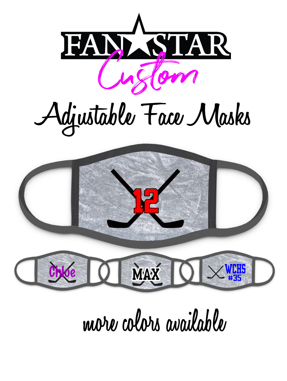 Custom Hockey Face Mask - Hockey Sticks Mask - Add Your Personalization!