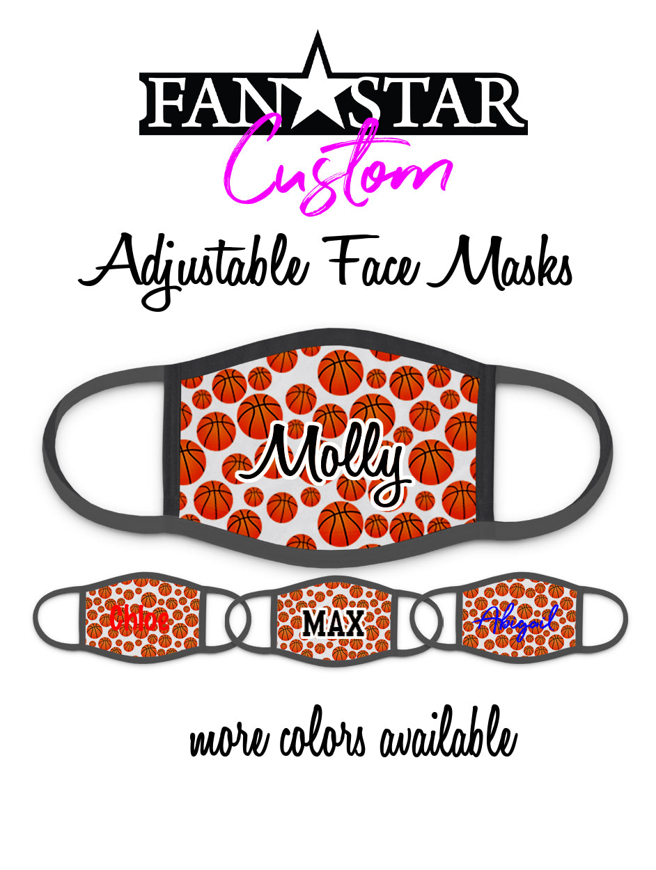 Custom Faux Basketball Face Mask - Add Your Personalization!