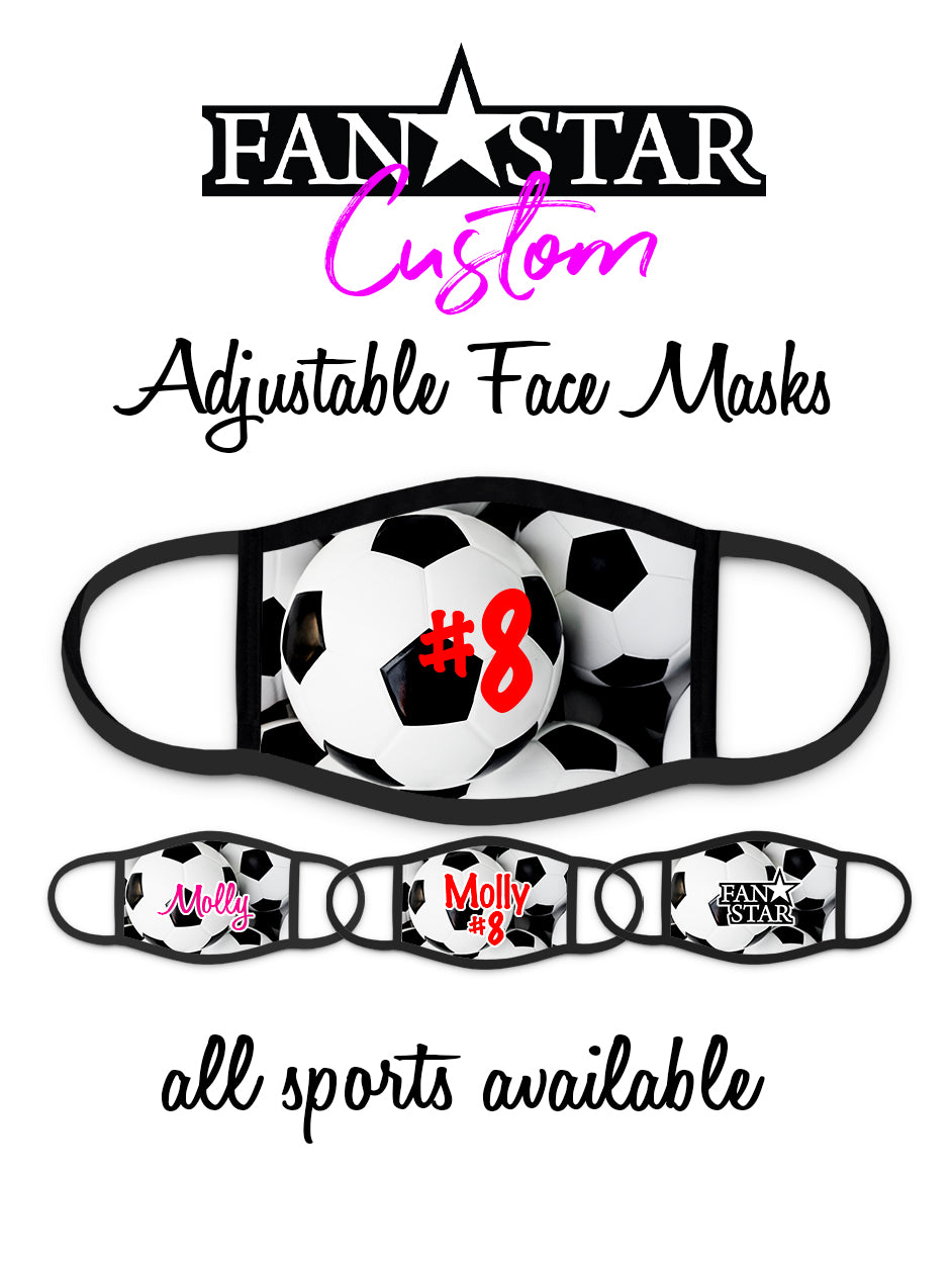 Custom Soccer Face Mask - Soccer Ball Mask - Add Your Personalization!