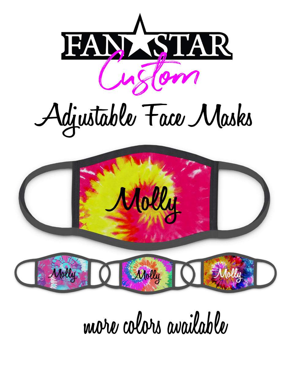Custom Tie Dye Face Mask - Choose Your Colors