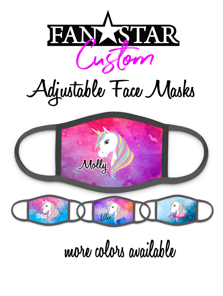 Custom Unicorn Face Mask - Add Your Personalization!