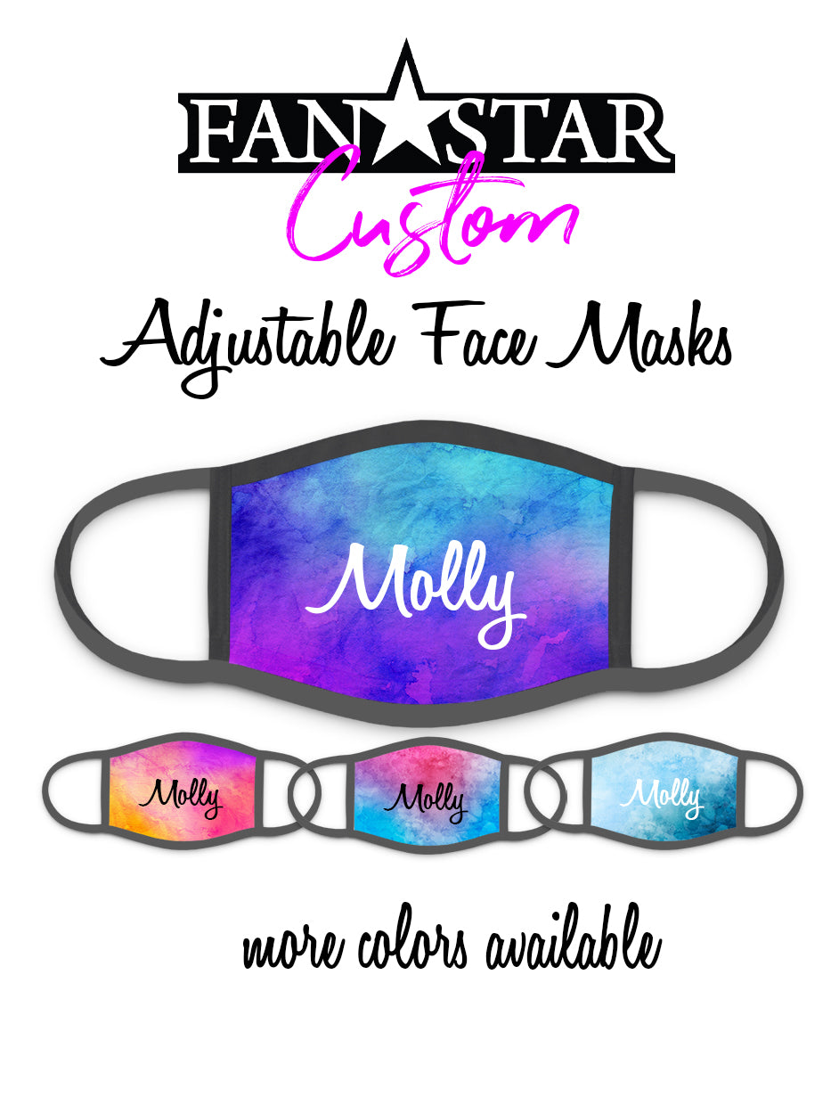 Custom Face Mask - Watercolor Background - Add Your Personalization!
