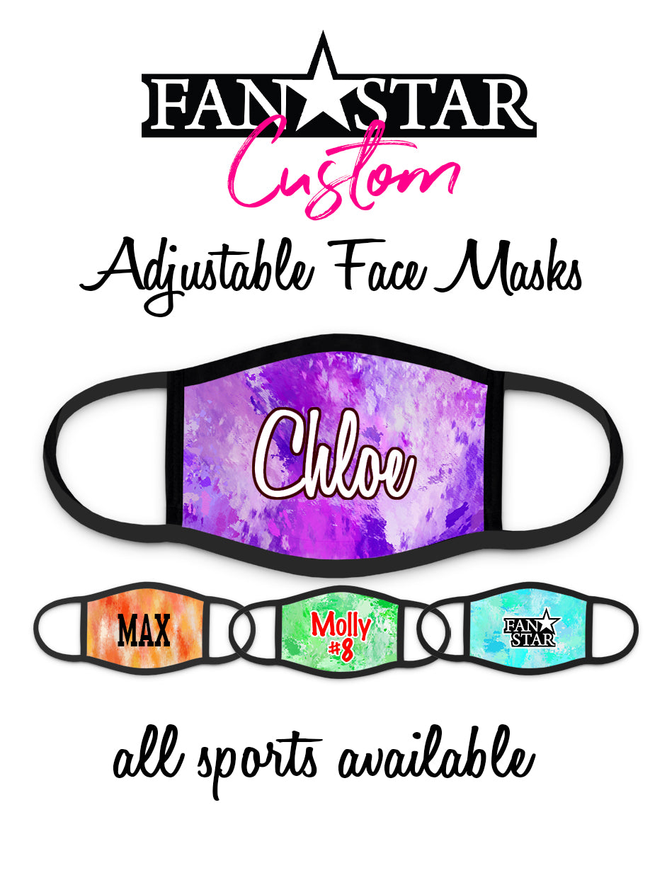 Custom Face Mask - Marble Background - Add Your Personalization!