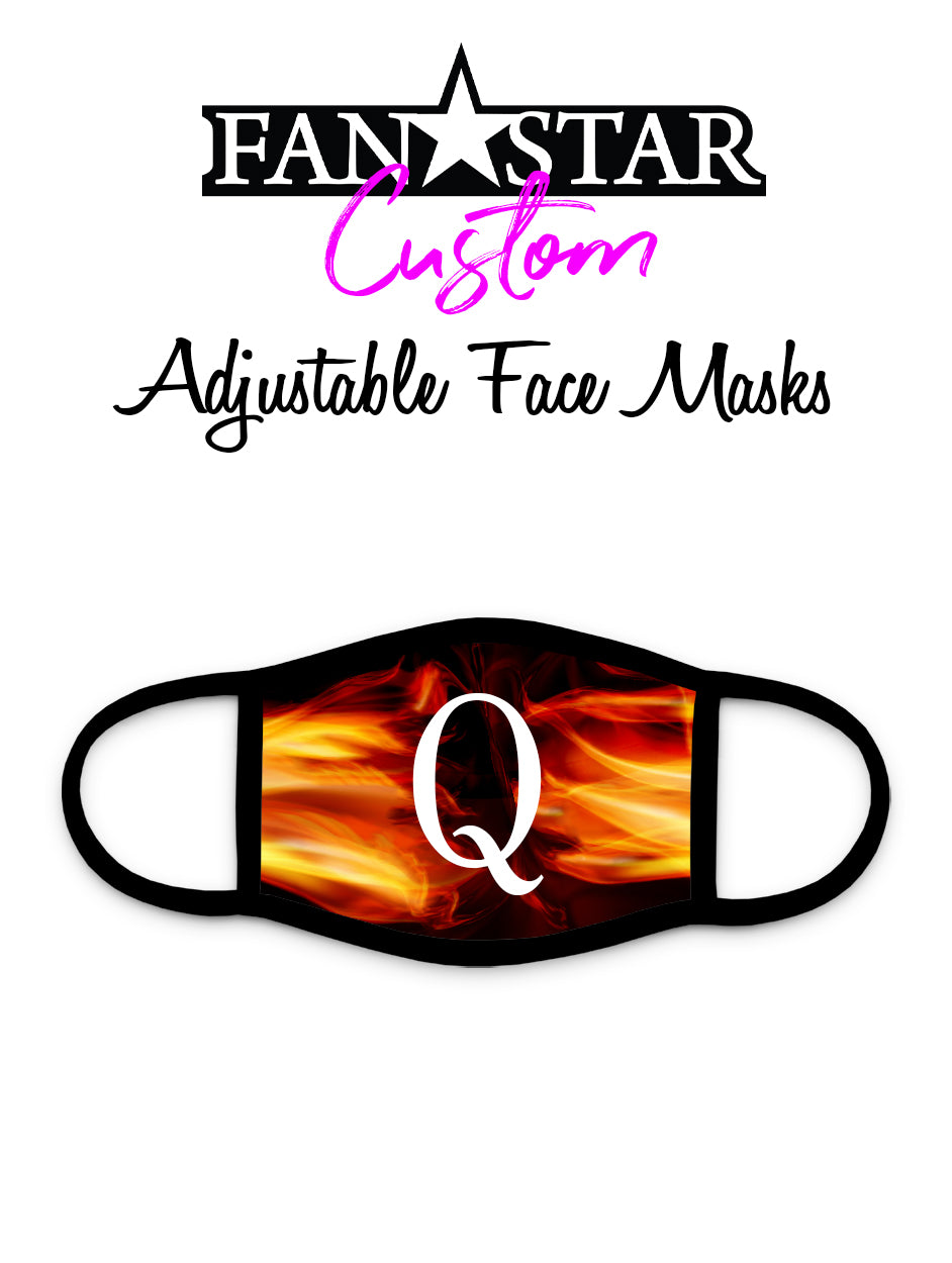Q Face Mask - Q Fire Face Mask - Kids and Adults Sizes Available!