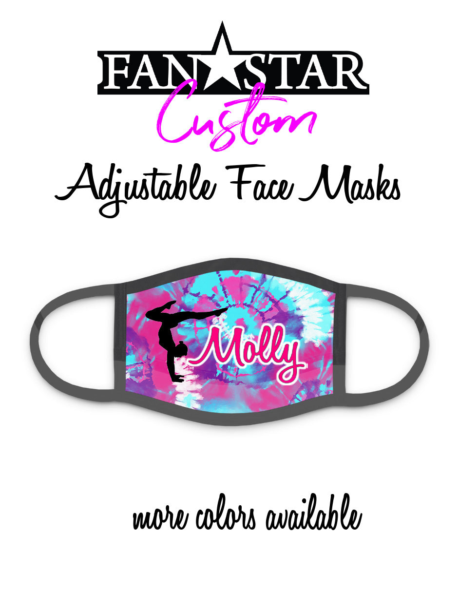 Custom Gymnast Mask - Tie Dye - Gymnastics Mask - Choose Your Colors/Image