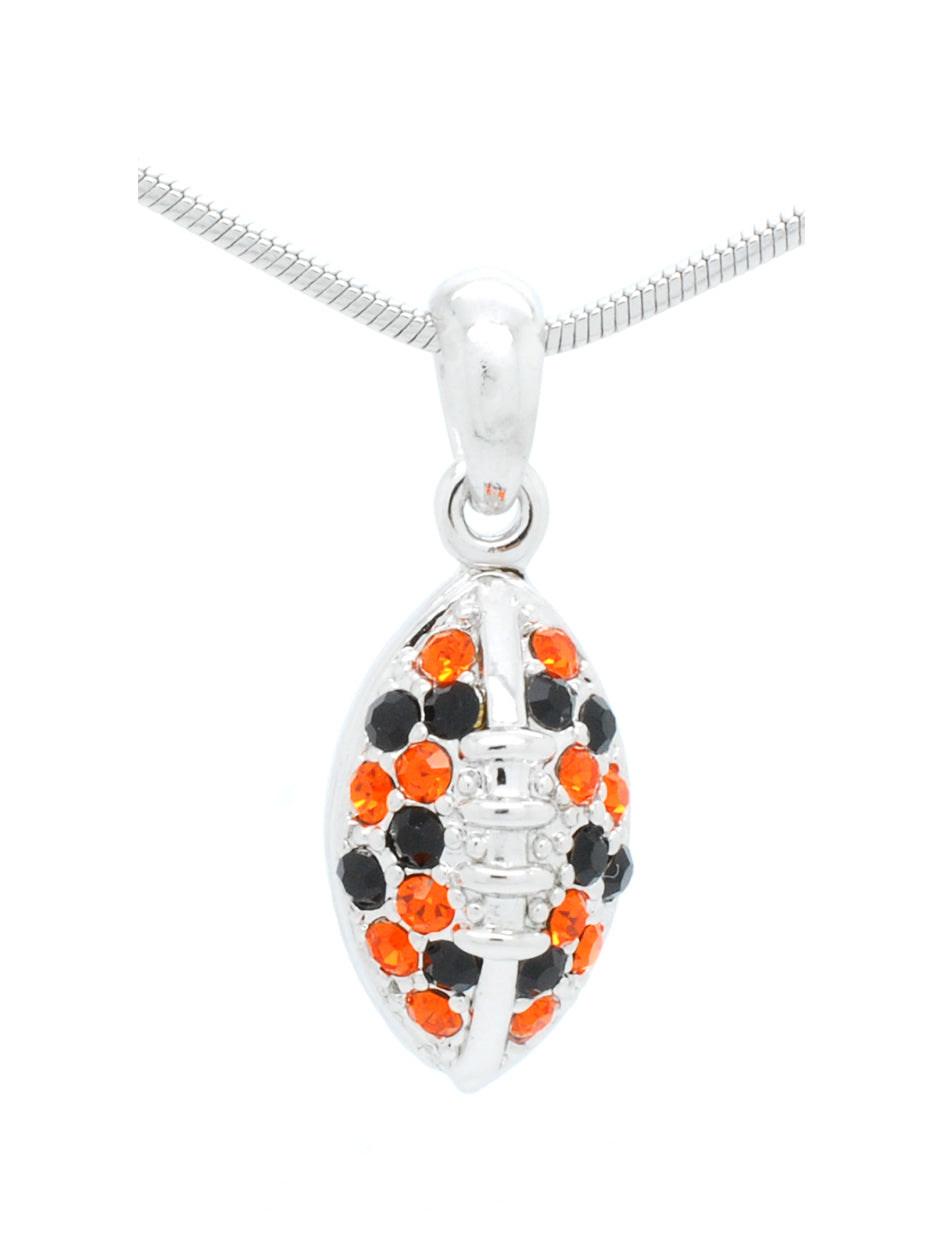 Football Necklace Mini  - Orange/Black