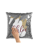 CUSTOM SEQUIN PILLOW - FLORIDA STATE GARNET & GOLD
