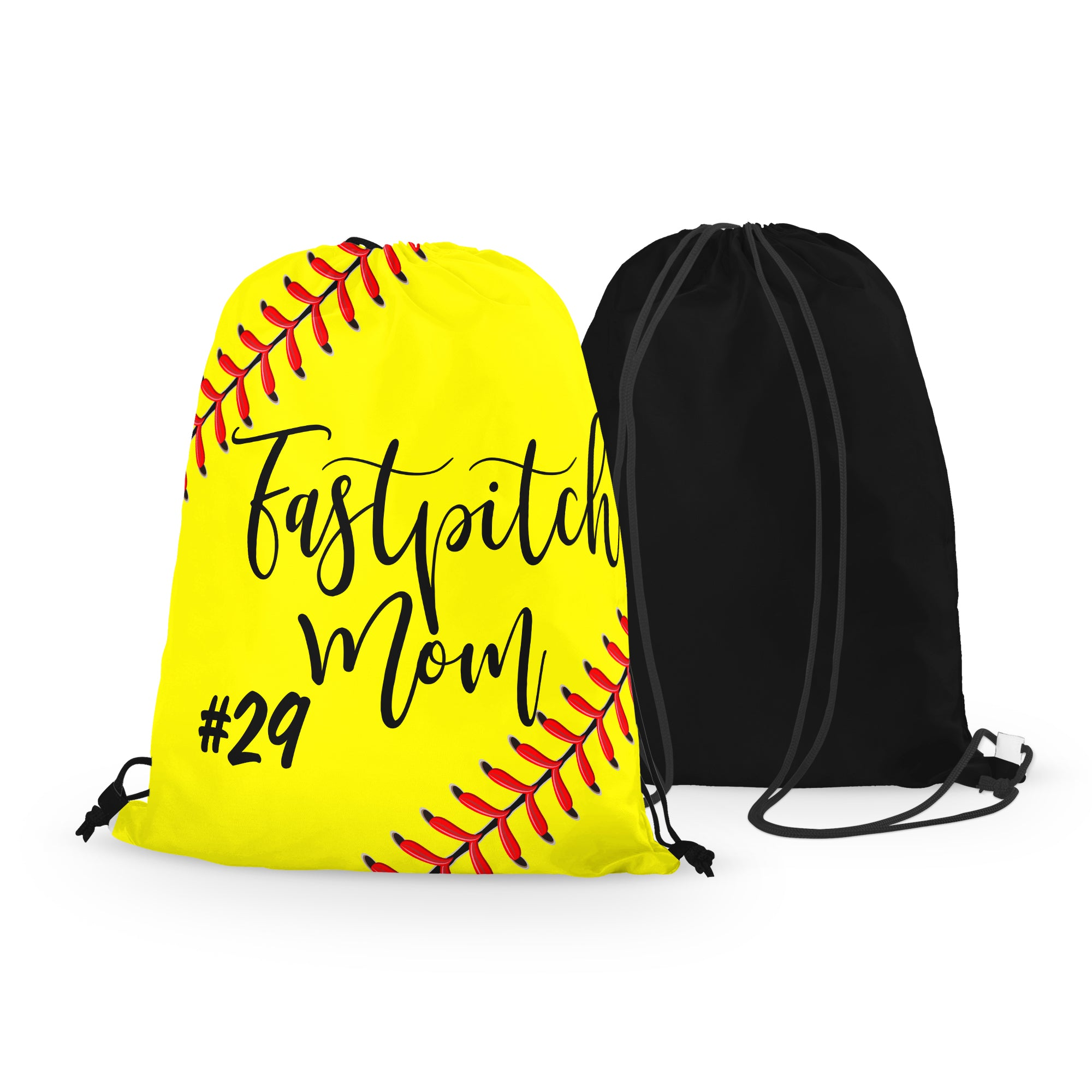 Personalized Fastpitch MOM Drawstring Bag