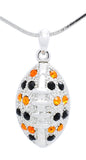 "Football Necklace - Large - Two Tone - 18"" Chain"