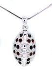"Football Necklace - Large - Two Tone - 22"" Chain"