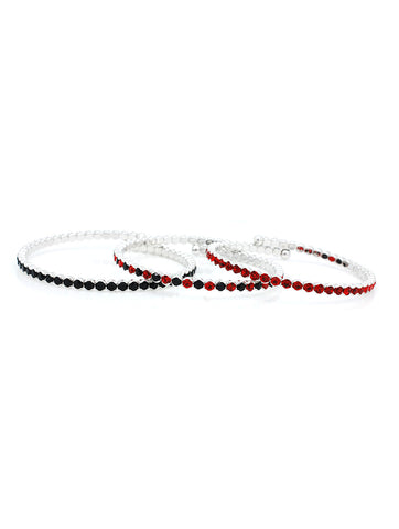 Deluxe Flex Bracelets - Black/Red