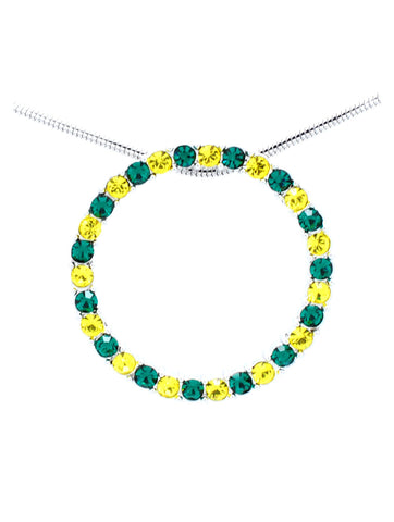 Circle of Life Necklace - Green/Gold