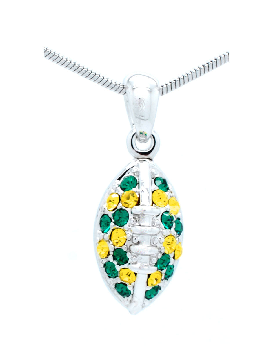 Mini Football Necklace - Green/Gold