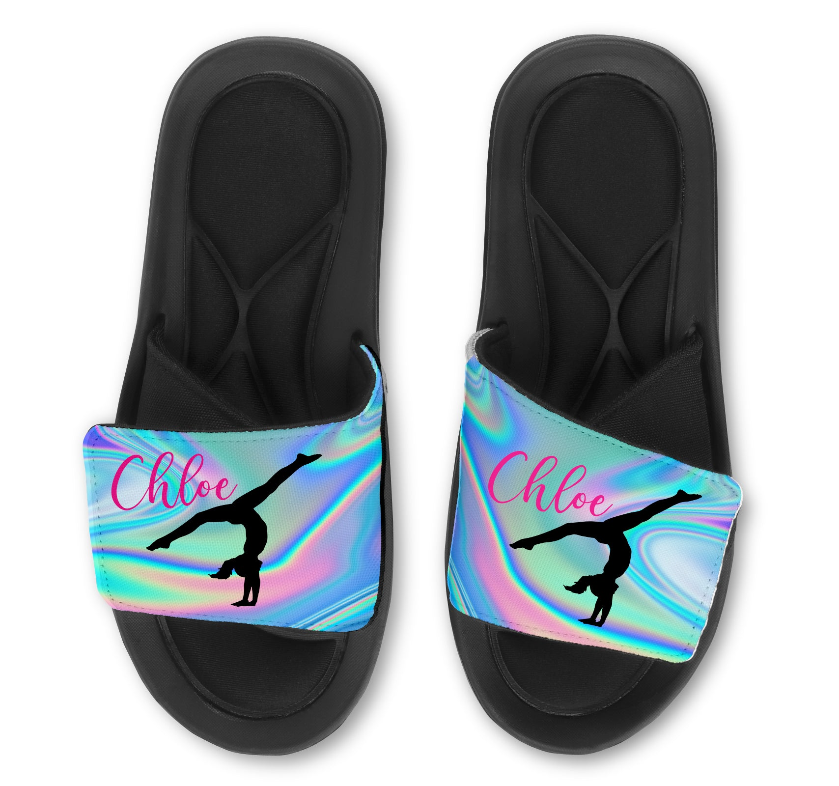 Gymnast Bubble Slides - Customize with Your Name