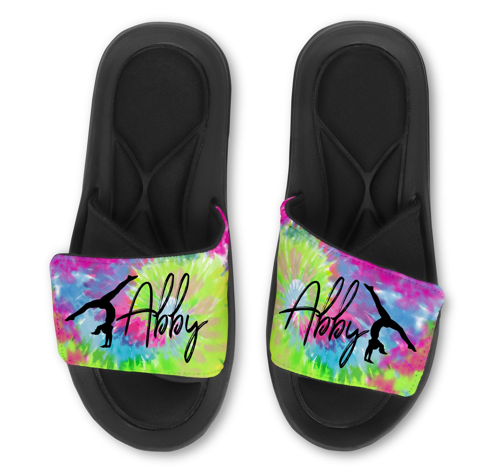 Gymnastics Custom Slides / Sandals -Tie Dye