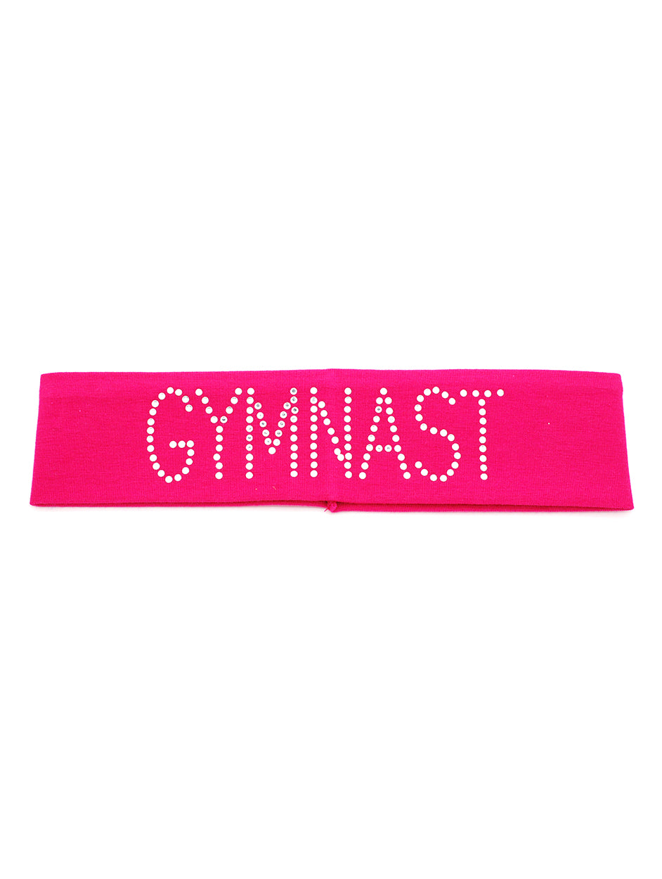 Gymnast Cotton Headband with Rhinestones!