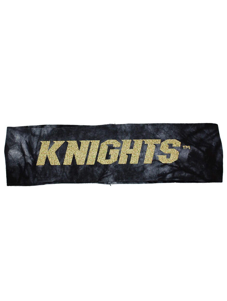 UCF Knights Headband - Black Tie Dye/Gold Sparkle