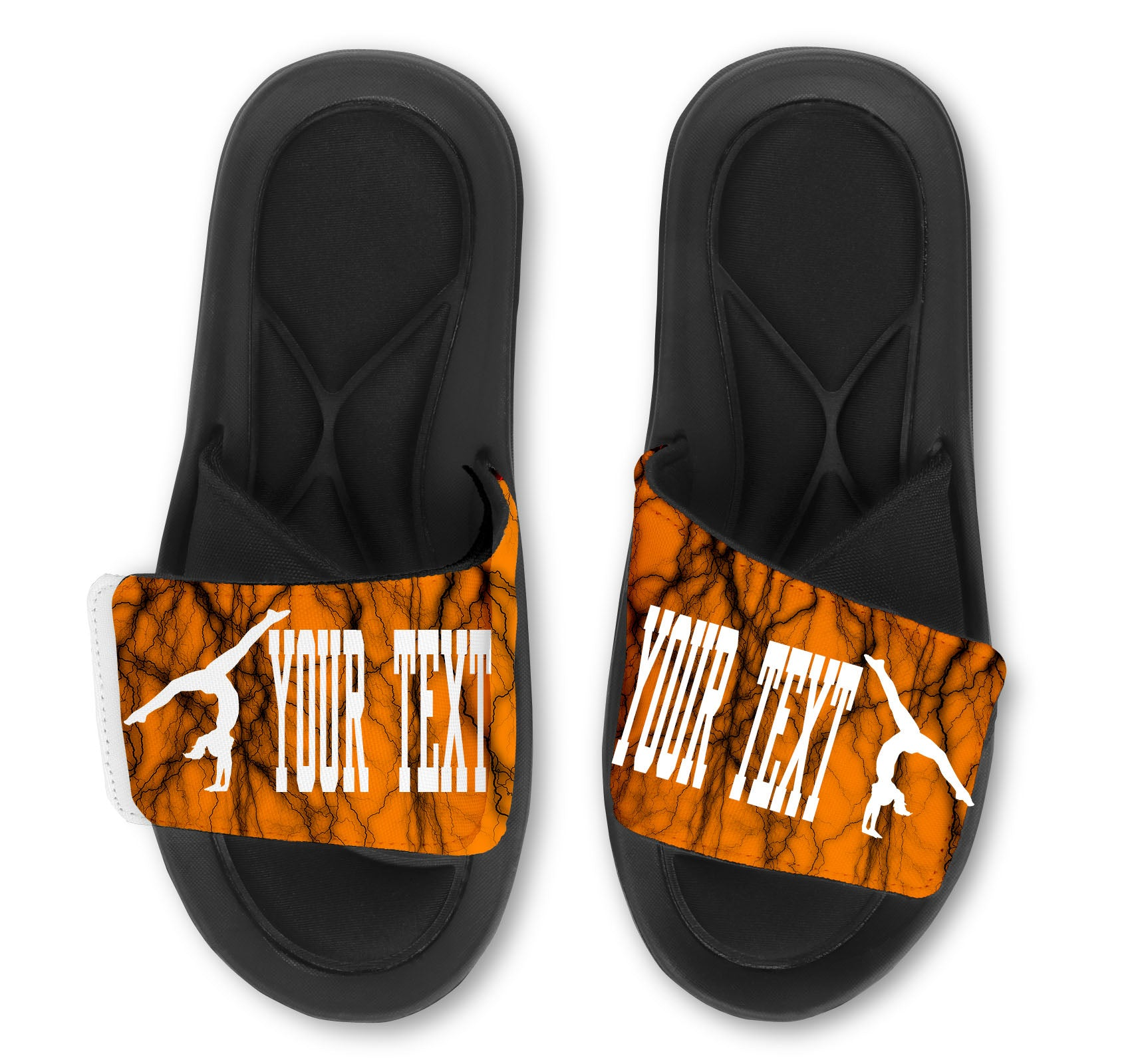 Gymnastics Handstand Custom Slides / Sandals -Lightning