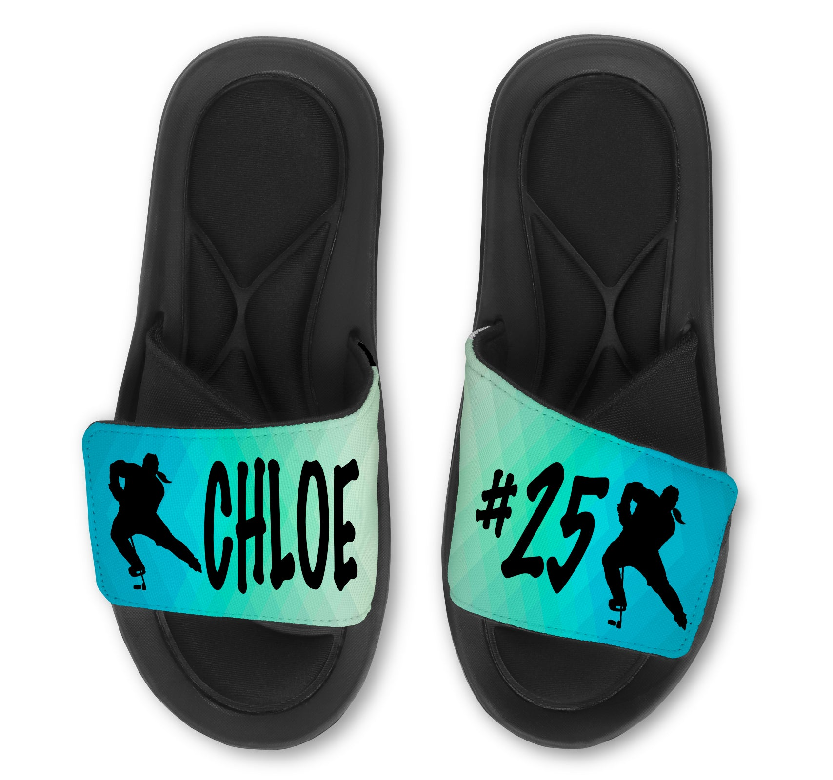 Hockey Abstract Custom Slides / Sandals - Choose your Background!