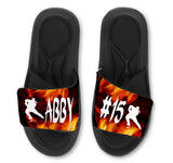 Hockey Flames Slides - Customize with Your Name