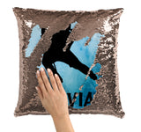 PERSONALIZED SEQUIN FLIP MERMAID PILLOW - GIRL HOCKEY PLAYER
