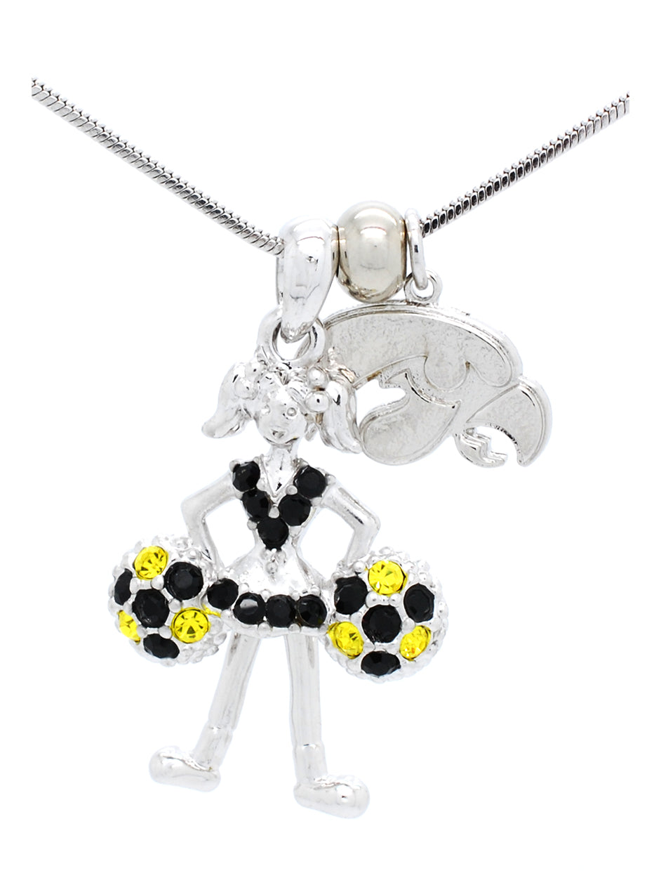 Cheerleader Necklace Poms Down - Iowa