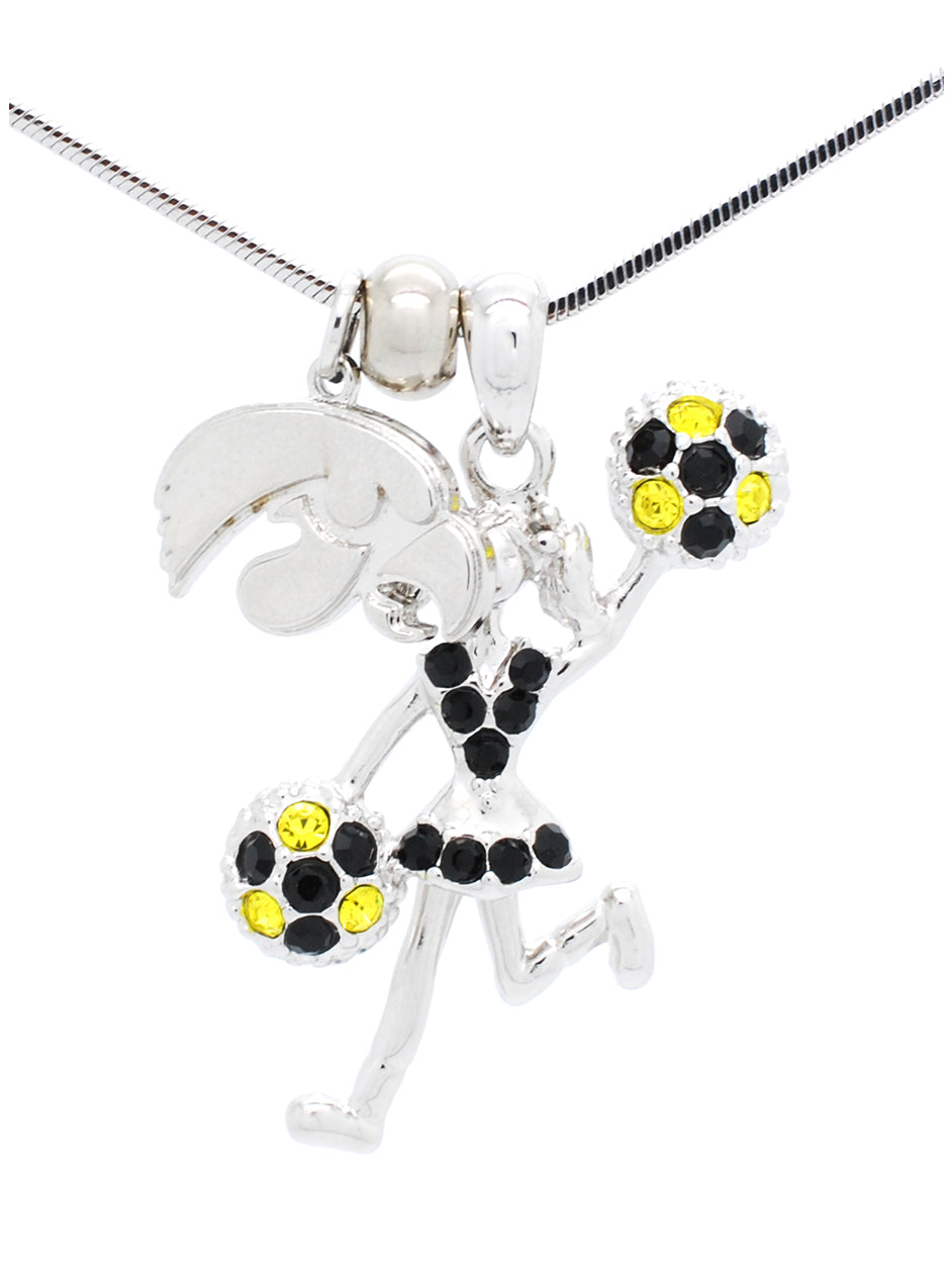 Cheerleader Necklace Poms Half - Iowa