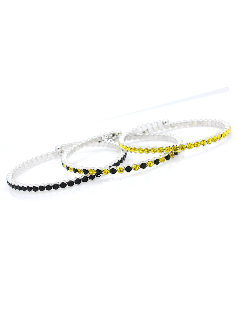Deluxe Flex Bracelets - Black/Yellow-Black/Yellow