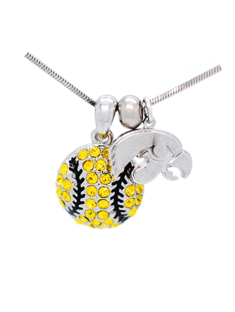 Baseball/Softball Necklace - Iowa